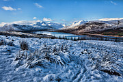 Munroe Photo Metal Prints - Loch Garry from Greag Amhaim Metal Print by Walter Hampson
