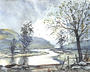 Great Britain Drawings - Loch Goil Scotland by Carol Wisniewski