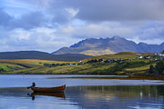 Highlands Of Scotland Posters - Loch Harport and the Cuillins 2 Poster by Chris Thaxter