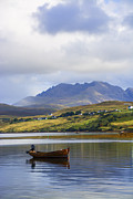 Highlands Of Scotland Prints - Loch Harport and the Cuillins Print by Chris Thaxter