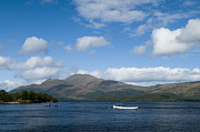 Lapping Prints - Loch Lomond Print by Anne Gilbert