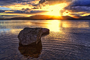 Scottish Landscape Print Framed Prints - Loch Lomond Sunset Framed Print by John Farnan
