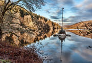 Invergarry Framed Prints - Loch Oich - Caledonian Canal Reflection Framed Print by Walter Hampson