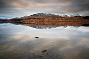 Winter Prints Framed Prints - Loch Tulla Framed Print by Grant Glendinning