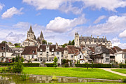 Buildings Photo Metal Prints - Loches Loire Valley France Metal Print by Colin and Linda McKie
