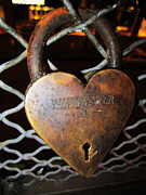 Lock Of Love Print by Kym Backland