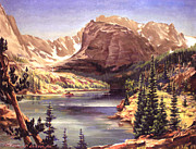 Vale Painting Prints - Lock Vale - Colorado Print by Art By Tolpo Collection