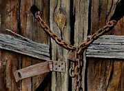 Rough Painting Prints - Locked Doors Print by Sam Sidders