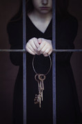 Person Photo Prints - Locked-in Print by Joana Kruse