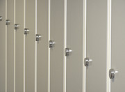 Fitting Room Prints - Lockers H Print by La di  Kirn