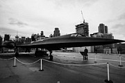 Manhaten Prints - Lockheed A12 Blackbird on display on the flight deck at the Intrepid Sea Air Space Museum Print by Joe Fox