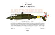 Lockheed Ah-56 Cheyenne Print by Arthur Eggers