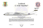 Lockheed Framed Prints - Lockheed C-141B 60thMAW Framed Print by Arthur Eggers