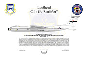 Lockheed Framed Prints - Lockheed C-141B Starlifter Framed Print by Arthur Eggers