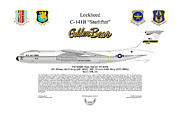 Lockheed Framed Prints - Lockheed C-141B The Golden Bear Framed Print by Arthur Eggers