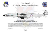 Aircraft Artwork Framed Prints - Lockheed EC-121T 963rdAEWC Framed Print by Arthur Eggers