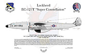Lockheed Framed Prints - Lockheed EC-121T 964thAEWC Framed Print by Arthur Eggers