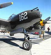 Lockheed P-38 - 162 Skidoo - 01 Print by Gregory Dyer
