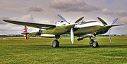 Lighning Prints - lockheed P38 lightning Print by Peter Chapman