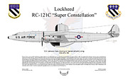 U.s. Air Force Framed Prints - Lockheed RC-121C Super Constellation Framed Print by Arthur Eggers