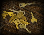 Gold Key Prints - Locksmith - Rejected Keys Print by Paul Ward