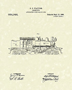 Stafford Framed Prints - Locomotive 1909 Patent Art Framed Print by Prior Art Design