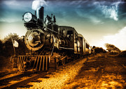 American Flags Prints - Locomotive Number 4 Print by Bob Orsillo