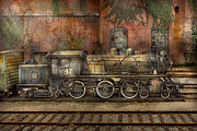 Railroads Photo Posters - Locomotive - Our old family business Poster by Mike Savad