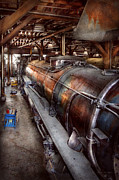 Repairs Metal Prints - Locomotive - Routine maintenance  Metal Print by Mike Savad