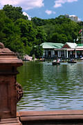 Row Boat Framed Prints - Loeb Boathouse Central Park Framed Print by Amy Cicconi