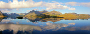 Norwegian Seascape Framed Prints - Lofoten Panorama Selfjorden Norway Framed Print by Heiko Koehrer-Wagner