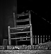 Hayloft Posters - Loft Chair 2 in b/w Poster by Greg Jackson