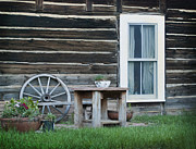 Clapboard House Photos - Log Cabin by Juli Scalzi