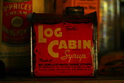 Tin Framed Prints - Log Cabin Syrup Framed Print by Jeff  Swan