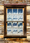 Cabin Window Framed Prints - Log Cabin Window Framed Print by David Adams