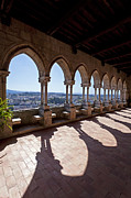 Backlit Prints - Loggia of the Gothic Leiria Caste Print by Jose Elias - Sofia Pereira