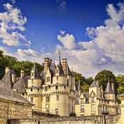 Chateau Prints - Loire Valley Chateau Usse Print by Colin and Linda McKie