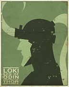 Mythology Digital Art Prints - Loki - Son of Odin Print by Michael Myers