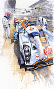 Automotive Framed Prints - Lola Aston Martin LMP1 Gulf Team 2009 Framed Print by Yuriy  Shevchuk