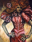 Alluring Paintings - Lola by Darlene Grubbs