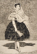 Dress Drawings Metal Prints - Lola de Valence Metal Print by Edouard Manet