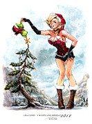 Holiday Prints - Lola XOXO A Wasteland Holiday 2012 Print by Siya Oum