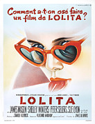 Movie Stars Framed Prints - Lolita Poster Framed Print by Sanely Great