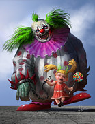 Creepy Digital Art Framed Prints - Lollipop Framed Print by Alex Ruiz