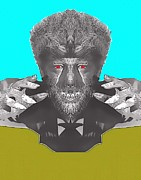 Sci-fi Picture Framed Prints - Lon Chaney Jr alias in The Wolf Man Framed Print by Art Cinema Gallery