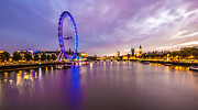 Westminster Palace Photos - London at Night by Dawn OConnor