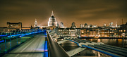 London At Night Framed Prints - London at Night Framed Print by Ian Hufton