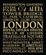 London England  Digital Art - London Attractions by Jaime Friedman