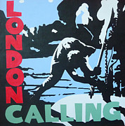 The Clash Metal Prints - London Calling Metal Print by ID Goodall