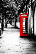 Tisdale Acrylic Prints - London Calling - Red Telephone Box Acrylic Print by Mark E Tisdale